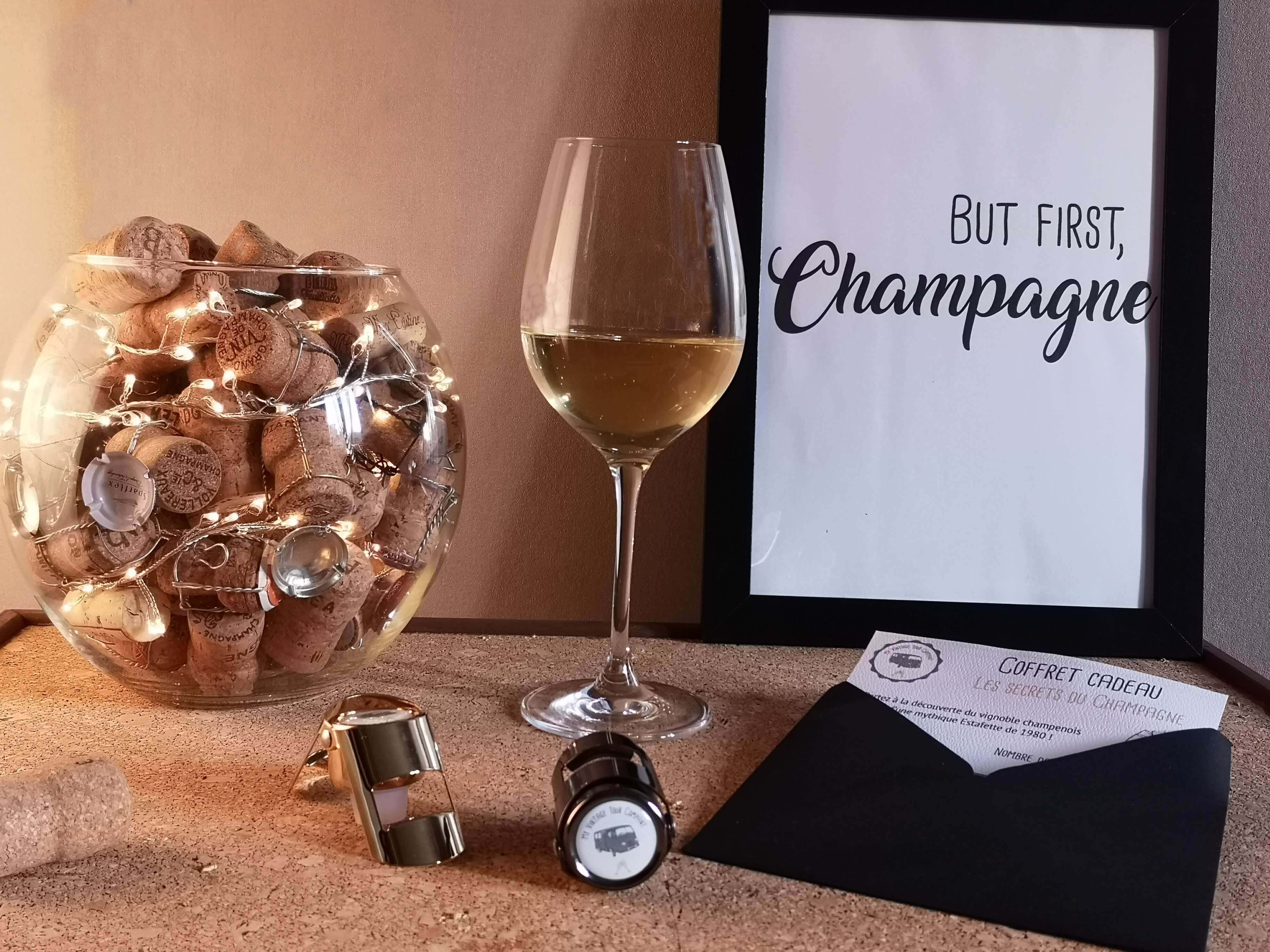 Gift boxes - Champagne tours in a vintage van Reims Epernay